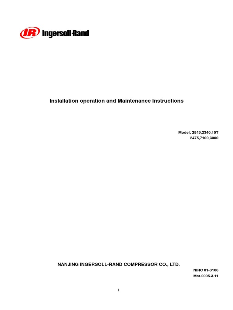 Doc-01.36.7180-016 Installation, Operation, And Maintenance Manual | Valve  | Gas Compressor