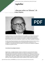 """Resumo_ """"Um Discurso Sobre as Ciências"""", De Boaventura Sousa Santos _ Velho Trapiche"""