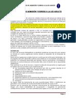 Criterios de Admision y Egreso de La Uci Al 2017