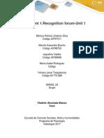 Assignment 1.Recognition Forum-Unit 1 Grupo 900002_24
