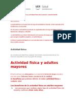 Benefiicos de La Actividad Fisica en El Adulto y Adulto Mayor
