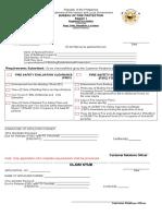 Application for Fsec Fsic Form