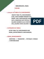 Laboratório 03 Pl SQL
