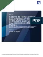 Deutsche Bank Manual Remuneraciones
