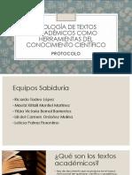 Tipología de textos académicos como herramientas del conocimiento científico