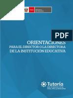 Orientaciones Para Los Directivos de La Ie 2016.Tutoria
