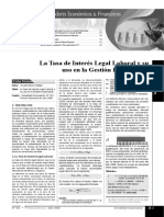 La Tasa de Interés Legal