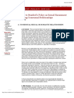 Stanford University Sexual Harassment Policy 2012