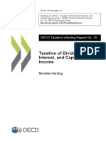 Taxation of Dividend, Interest, And Capital Gain Income