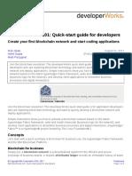 Cl Ibm Blockchain 101 Quick Start Guide for Developers Bluemix Trs PDF