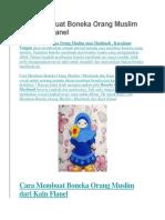 Cara Membuat Boneka Orang Muslim Dari Kain Flanel
