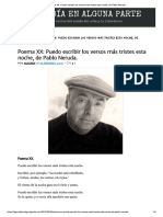 Poema XX - Pablo Neruda