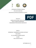 Diseño Instruccional AADRE - Pável Iván Cruz Reyes