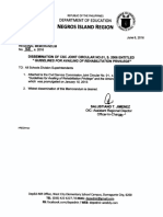 Regional Memo 158 s 2016 Dissemination of Csc Joint Circular No 01 s 2006 Entitled Guidelines for Availing of Rehabilitation Privilege