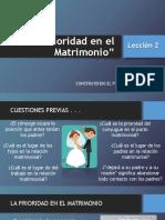 La Prioridad en El Matrimonio L2
