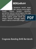 Diagnosa Banding BAB Berdarah