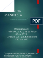 URGENCIA MANIFIESTA 2
