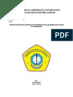 Peran Partisipan Corporate Governance Dalam Mencegah Fraud Di Organisasi