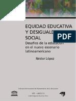 LÓPEZ Equidad educativa y desigualdad social 2005.pdf