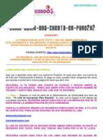 COMO ABRIR UNA CUENTA PURE2X2 - MANUAL EN ESPAÑOL