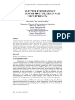 DELAY-POWER PERFORMANCE COMPARISON OF MULTIPLIERS IN VLSI CIRCUIT DESIGN