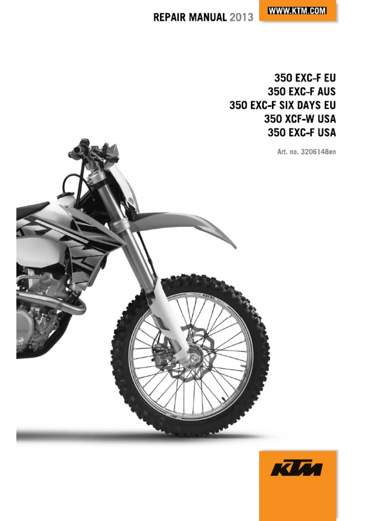... Array - 2013 ktm 350 exc shop repair manual clutch cylinder engine rh  scribd ...