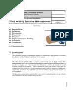 Duct Velocity Measurement