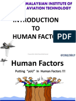 DCAM Human Factor Topic 1