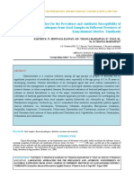 IAETSD-JARAS Laboratory Approaches for the Prevalence and Antibiotic Susceptibility of Bacterial Pathogens From Stool Samples in Different Provinces of Kanyakumari District, Tamilnadu