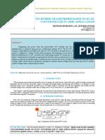 IAETSD-JARAS High Gain Ratio Hybrid Transformer Based on Dc-dc Converter for Pv Grid Applications