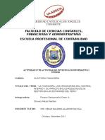 Mecanismos de Control Interno en Las Entidades Del Peru