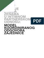 Tanja Ignjatović Nasilje Prema Ženama u Intimnom Partnerskom Odnosu Model Koordiniranog Odgovora Zajednice