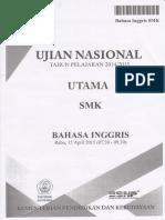 Soal UN SMK 2014-2015 Bahasa Inggris D