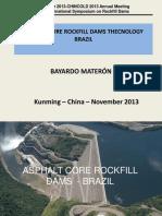Asphalt Core Rockfill Dams Brazil