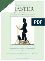 Master Musicologie Recherche Et Enseignement
