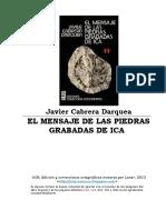 Cabrera Darquea, Javier - El Mensaje de Las Piedras Grabadas de Ica (1994)