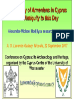 The History of Armenians in Cyprus from Antiquity to this Day (presentation)
