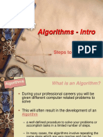 2013-14 Algorithms Intro - Steps to a Solution