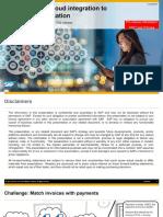 S4HANA Cloud Integration to SAP Cash Application