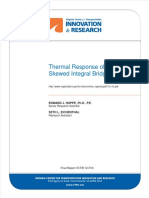 (Report) Thermal Response Skew Integral Bridge