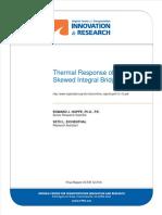 (Report) Thermal Response Skew Integral Bridge