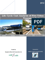 (Report) Life Cycle Cost Analysis of Five Mass Rapid Transit Systems