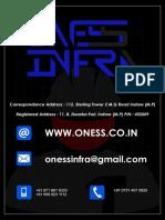 Oness Infra pvt. ltd. Indore, India Broucher