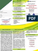 Workshop on MEMS Based Wireless Sensors Brochure