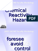 Chemical Reactivity Hazards