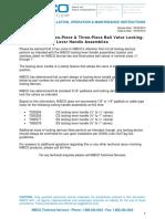 2 3 Piece Bronze Ball Valve Locking Lever Handle Assemblies TB