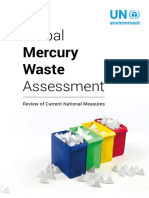 Global Mercury Waste Assessment  - Review of Current National Measures