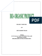 Project Report On Bio Organic Products
