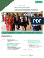 PARTAGE D'EXPÉRIENCES entre les membres de la Cour Pénale Spéciale de la République Centrafricaine, des Chambres Africaines Extraordinaires au Sénégal et des experts internationaux