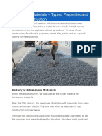 Bituminous Materials – Types, Properties and Uses in Construction